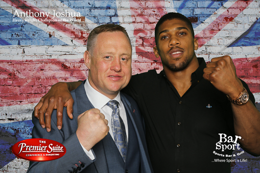 Anthony Joshua at Premier Suite